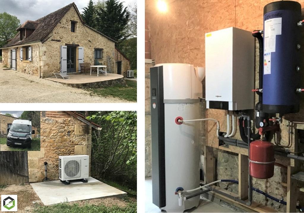 Installation d'une pompe à chaleur VIESSMANN VITOCAL 100S