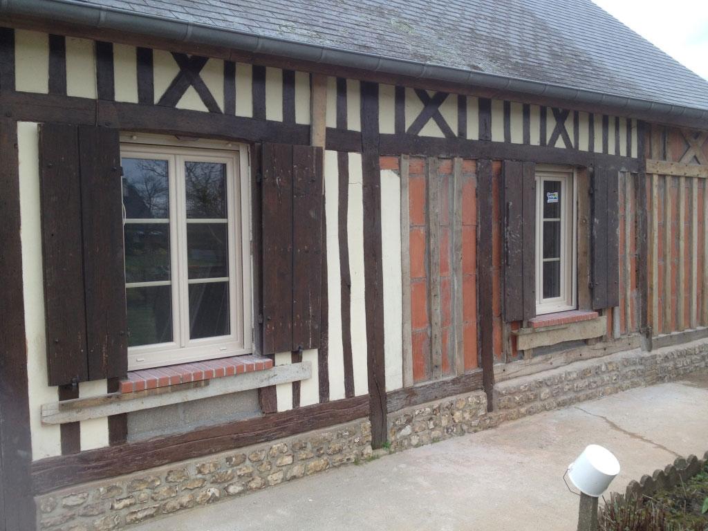Remplacement / pose fenêtres double vitrage , artisan Rge menuisier fenêtrier , Yerville 76-Seine Maritime (76)