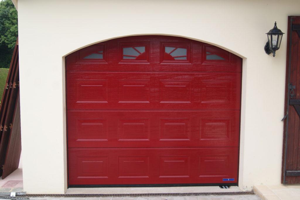 Pose d'une porte de garage sectionnelle Hormann , secteur Yerville / Limesy 76 -Seine Maritime (76)