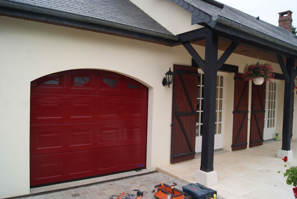 Pose d'une porte de garage sectionnelle Hormann , secteur Yerville / Limesy 76