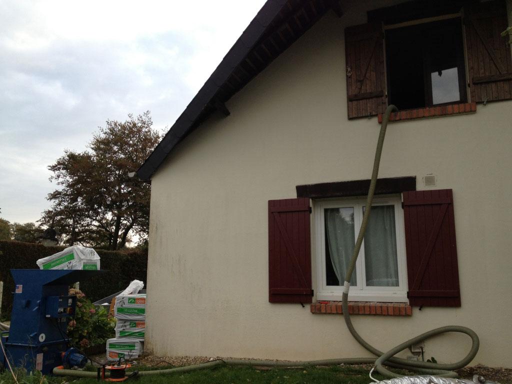 Installation / pose , Isolation de comble perdus en ouate de cellulose par entreprise Rge , secteur Yerville / Doudeville , 76 Seine-maritim-Seine Maritime (76)
