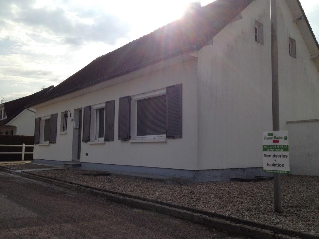 Pose / remplacement , fenêtres Pvc , porte aluminium et volets roulants par artisan menuisier Rge , Yvetot , 76 Seine Maritime