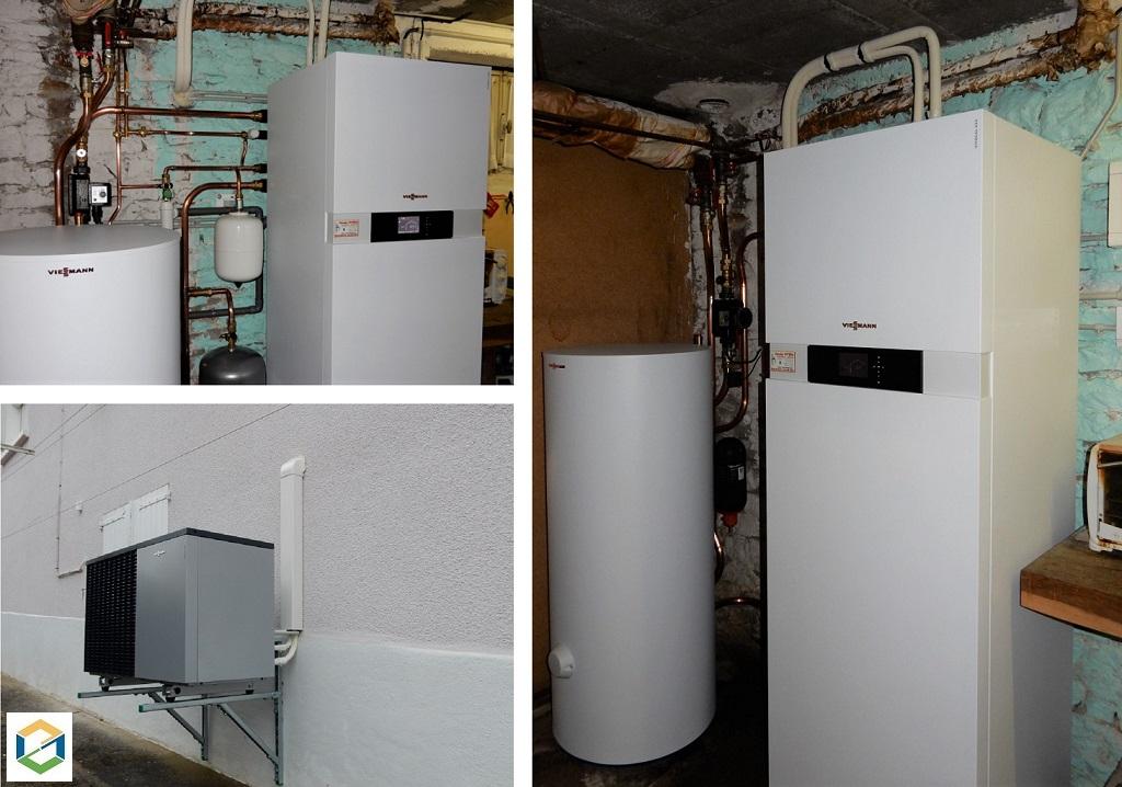 Installation pompe à chaleur air-eau Viessmann