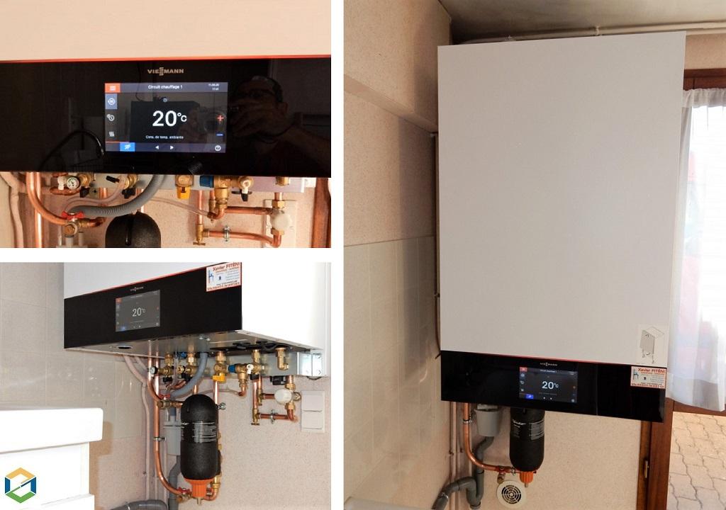 Installation chaudière gaz condensation Viessmann