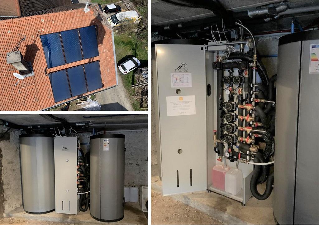 Installation d'un chauffage solaire SOLISART à St Martin d'Uriage