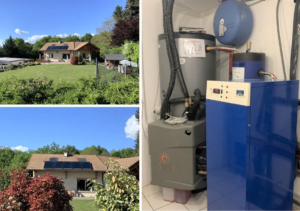 Chauffage solaire (SSC) thermique SOLISART avec appoint PAC