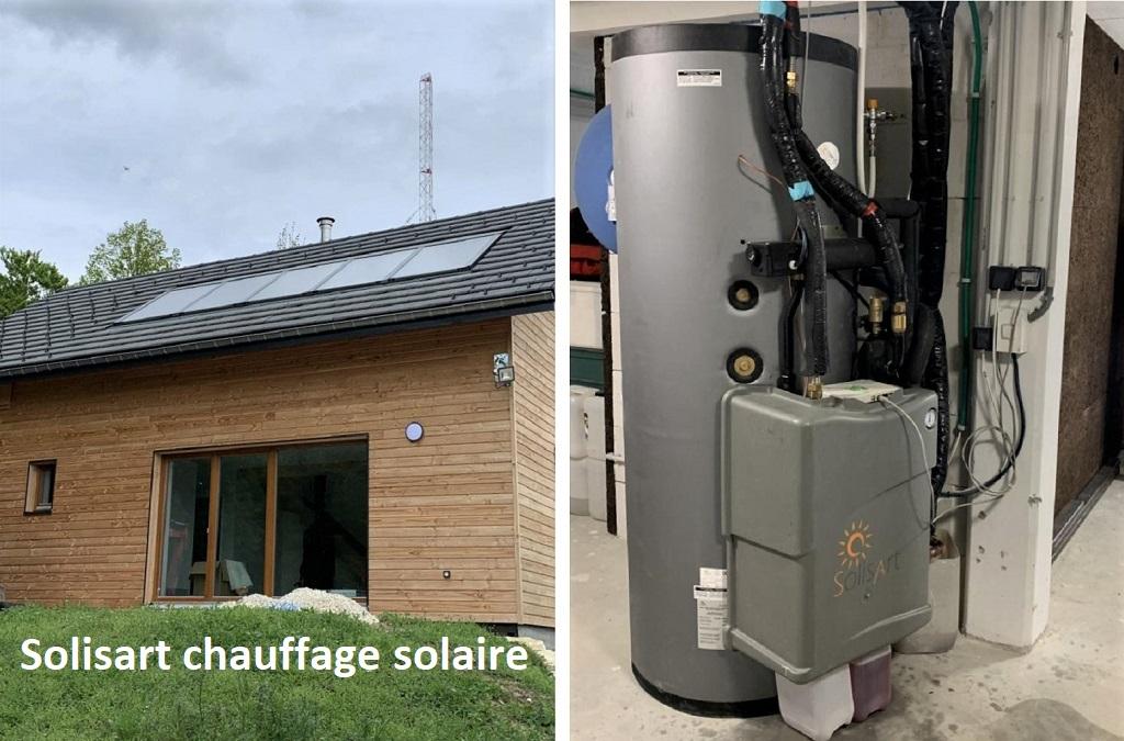 Chauffage et eau chaude solaire thermique Solisart à St Nizier du Moucherotte