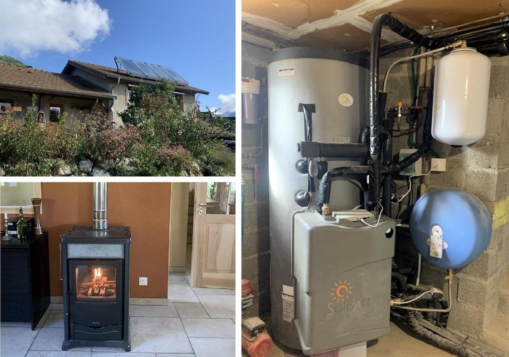 Installateur chauffage solaire (SSC) avec appoint poêle à bois