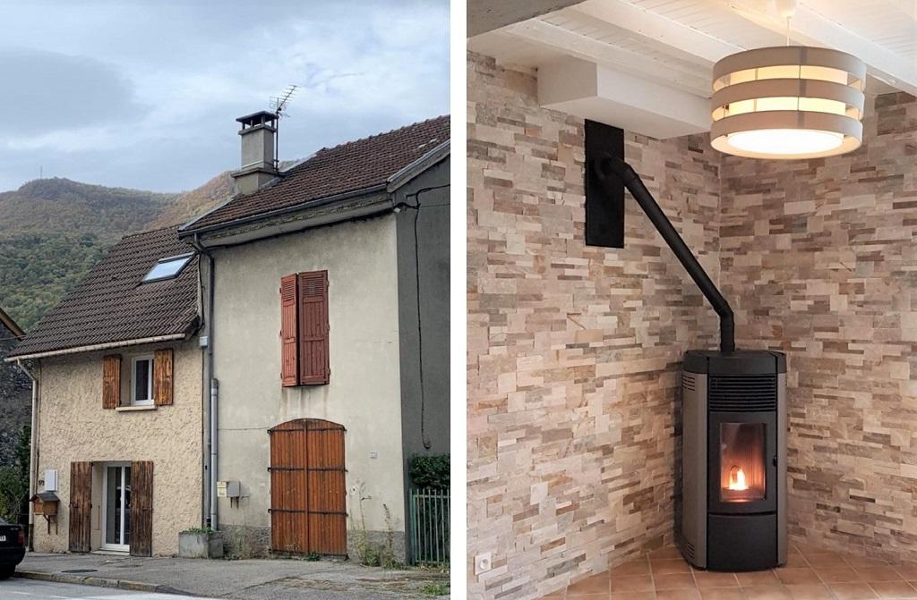 Installation poele a bois granulés en remplacement cheminée - RGE prime Air Bois