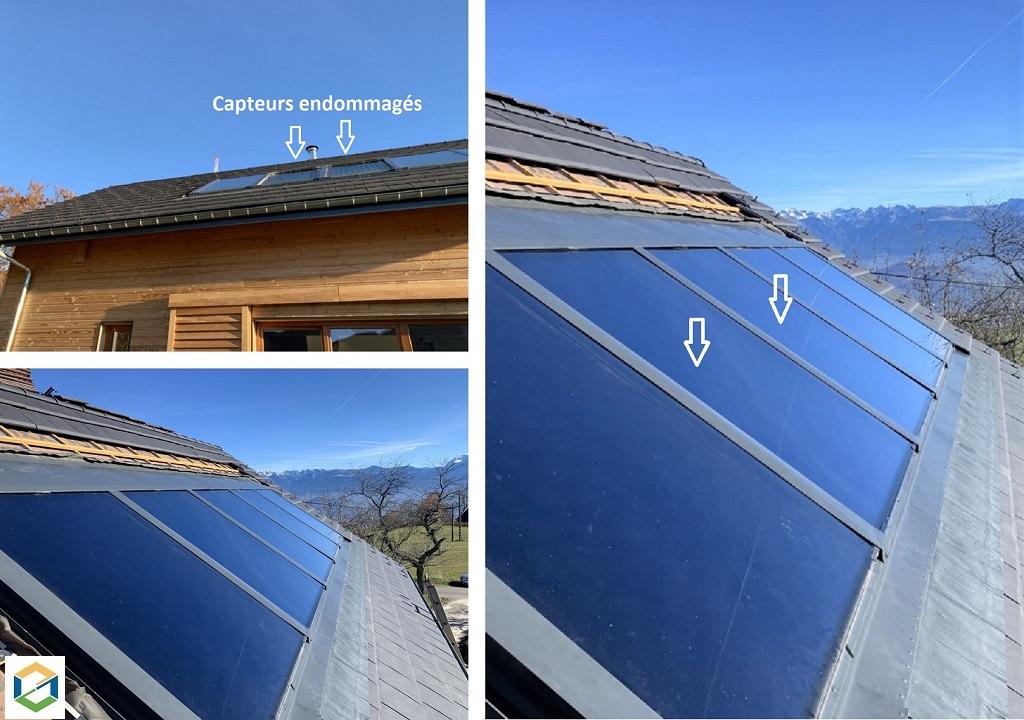 Remplacement de capteurs solaires thermiques