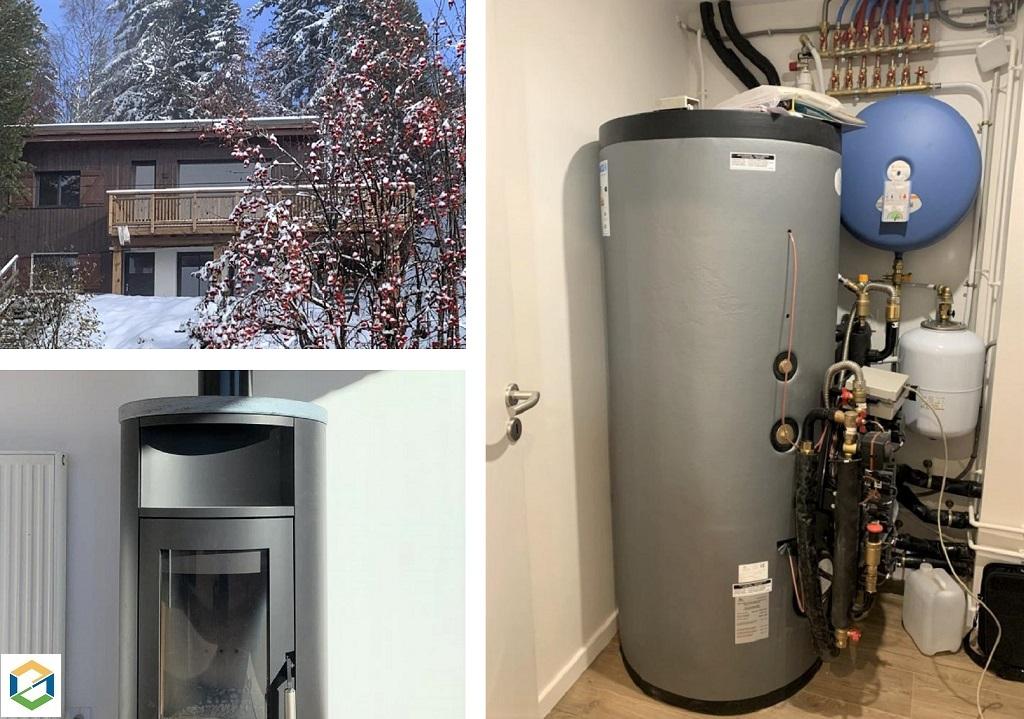Système de chauffage hydraulique bois bûches et eau chaude sanitaire
