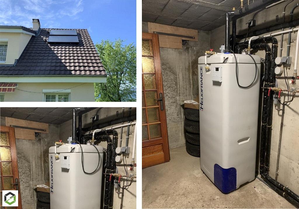 RGE QualiSol - Installation d'un chauffe eau solaire (CESI) Heliofrance en pression