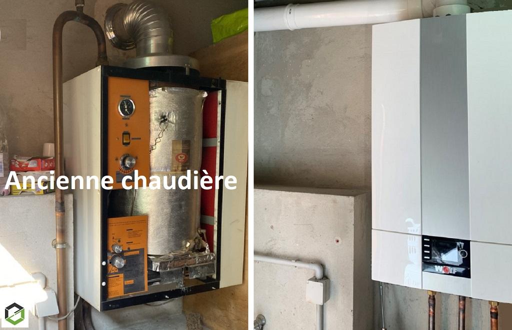 Installation chaudière à gaz condensation WOLF
