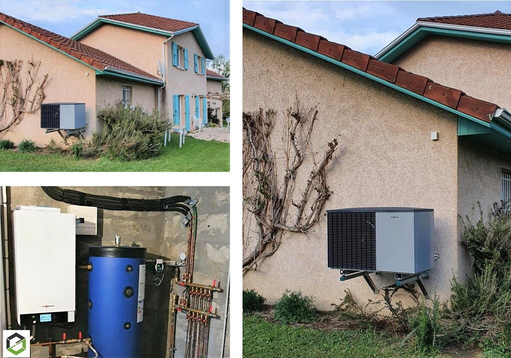 Rénovation d'une géothermie gaz gaz Sofath avec une pompe à chaleur air eau Viessmann