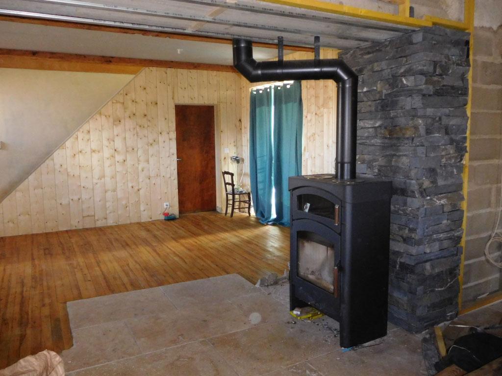 Installation poêle à bois - chauffage au bois