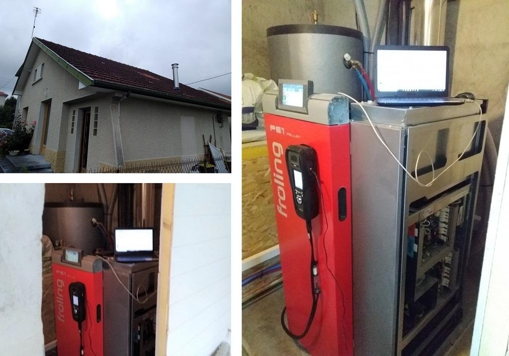 remplacement de chaudière à gaz par une Chaudière à granulés Froling