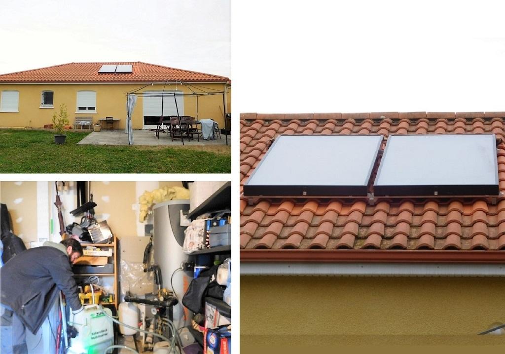Remplacement de capteurs pour un chauffe eau solaire