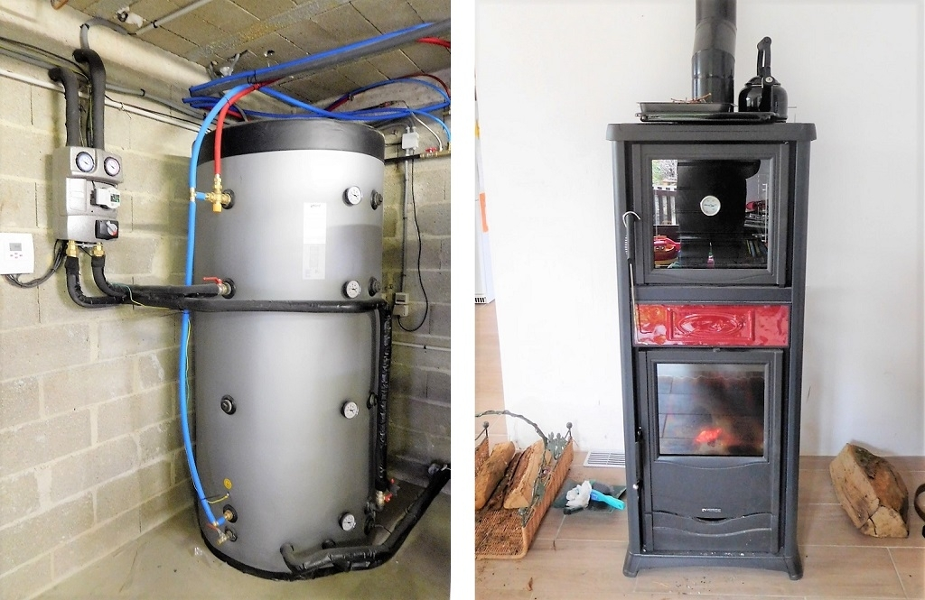 Poêle à Buche hydraulique - remplacement de chaudière à gaz Propane
