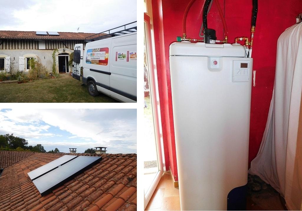 Chauffe eau solaire en auto vidange - Hautes Pyrénées -RGE Qualisol