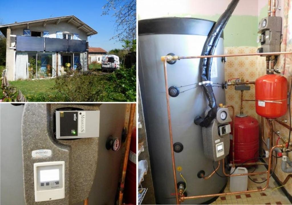 Système solaire combiné (SSC) - chauffage solaire thermique