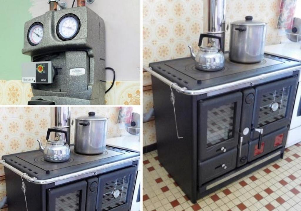 Cuisinière bois bûches - chauffage central et production ECS - artisan RGE Qualibois