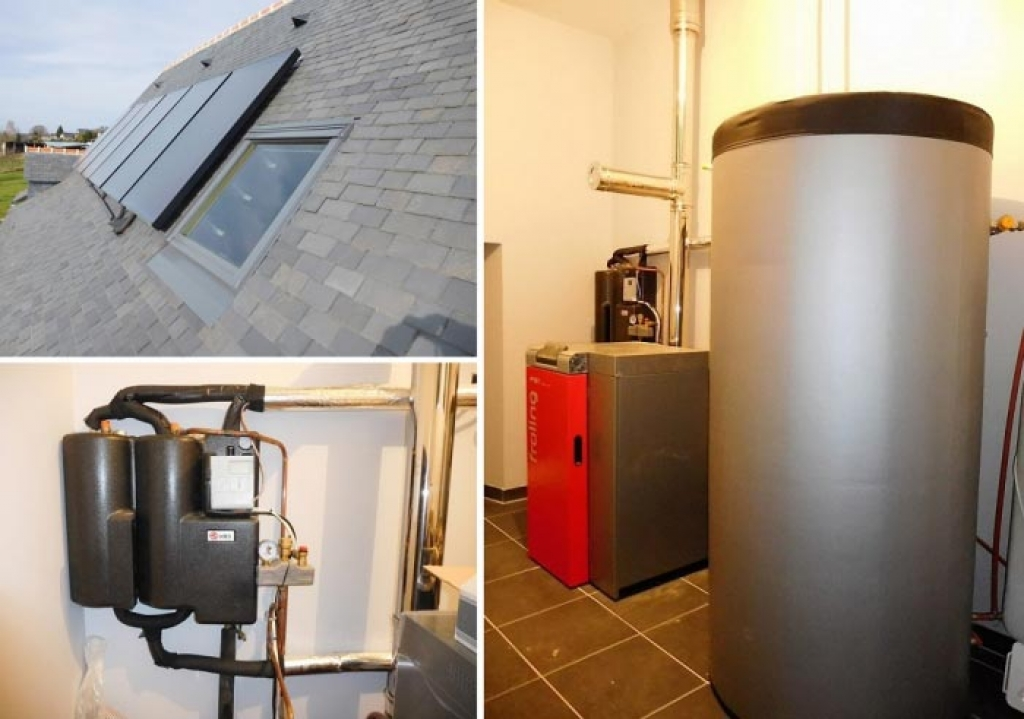 Energie Solaire thermique - artisan RGE Qualisol - système combiné (SSC) - Chauffage et eau chaude sanitaire - capteurs Héliofrance autovidangeables