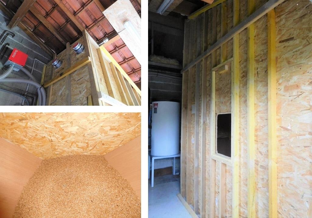 Silo pour chaudière à granulés de bois Froling