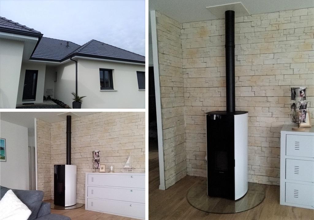 Installation d'un Poêle à granulés - chauffage de bois - Maison RT 2012