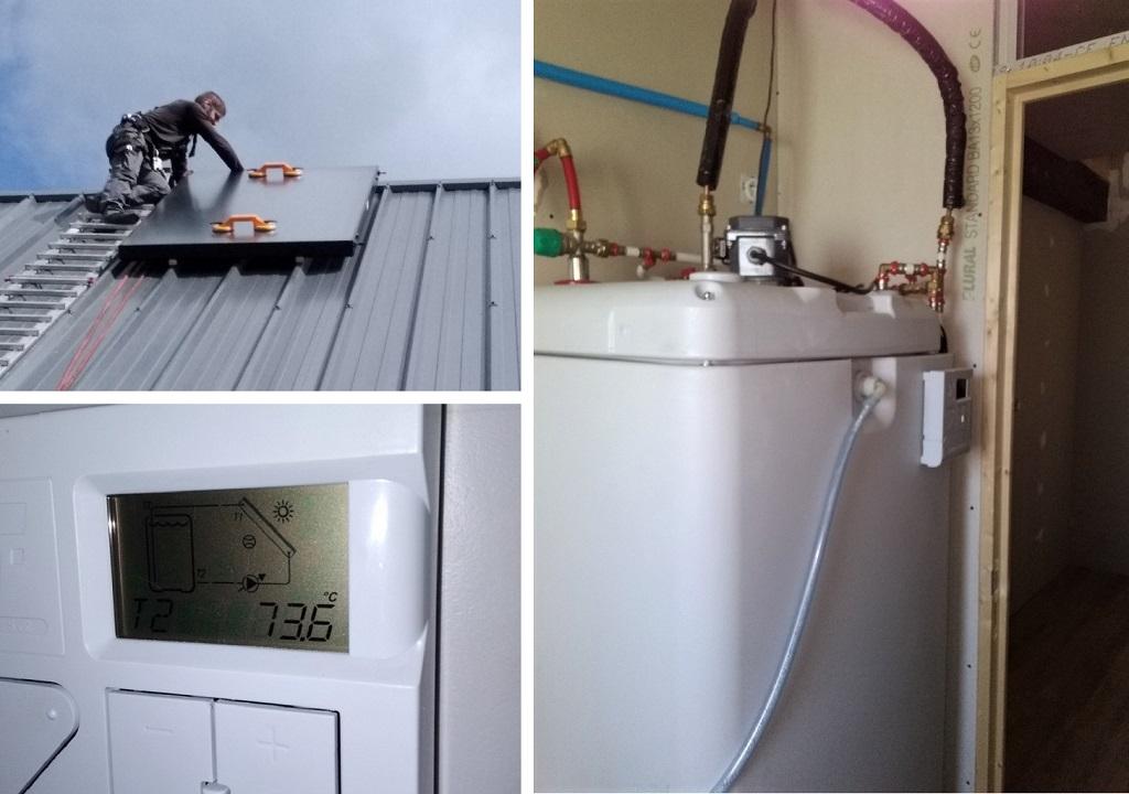 Chauffe eau solaire - capteurs solaires thermiques auto-vidange