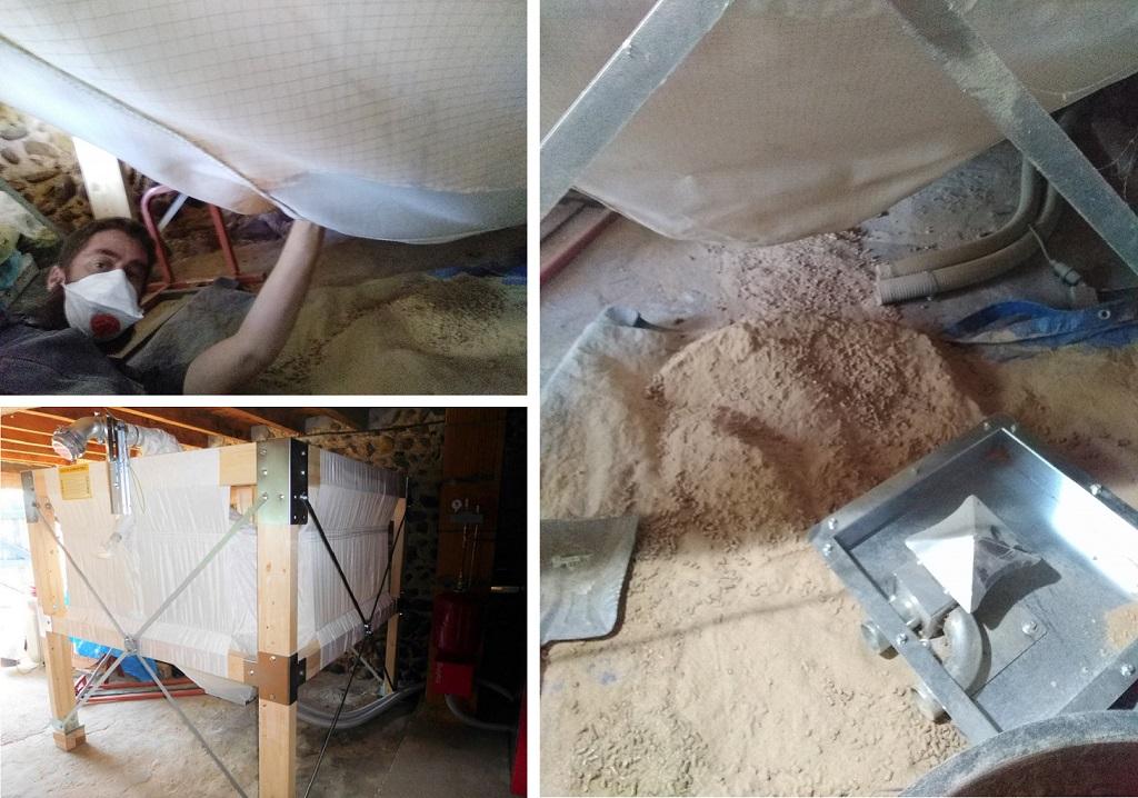 Entretien nettoyage silo a granulés de bois