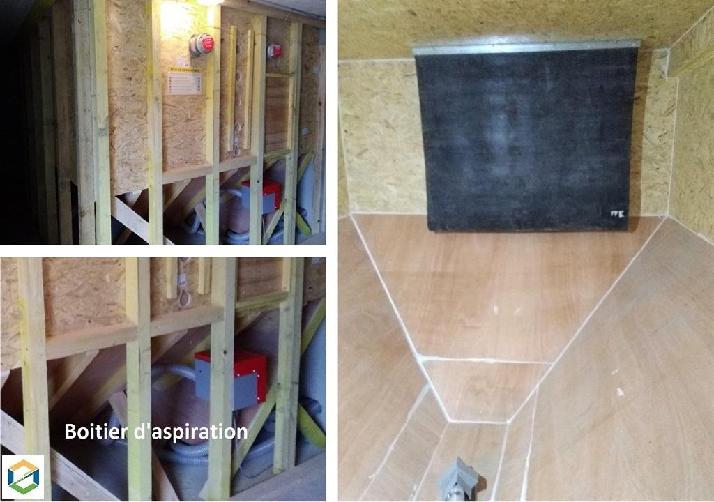 Construction d'un silo à granulés de bois - chaudière à granulés