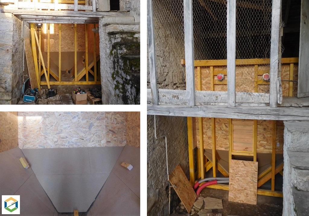 fabrication d'un silo pour chaudière à granulés - entreprise RGE-Pyrénées Atlantiques (64)