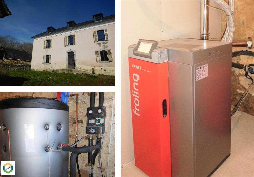 Chauffage central aux granulés - chaudière Froling -entreprise RGE qualibois-Hautes Pyrénées (65)