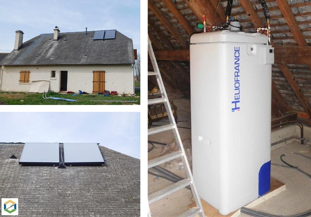 chauffe eau solaire système auto-vidange