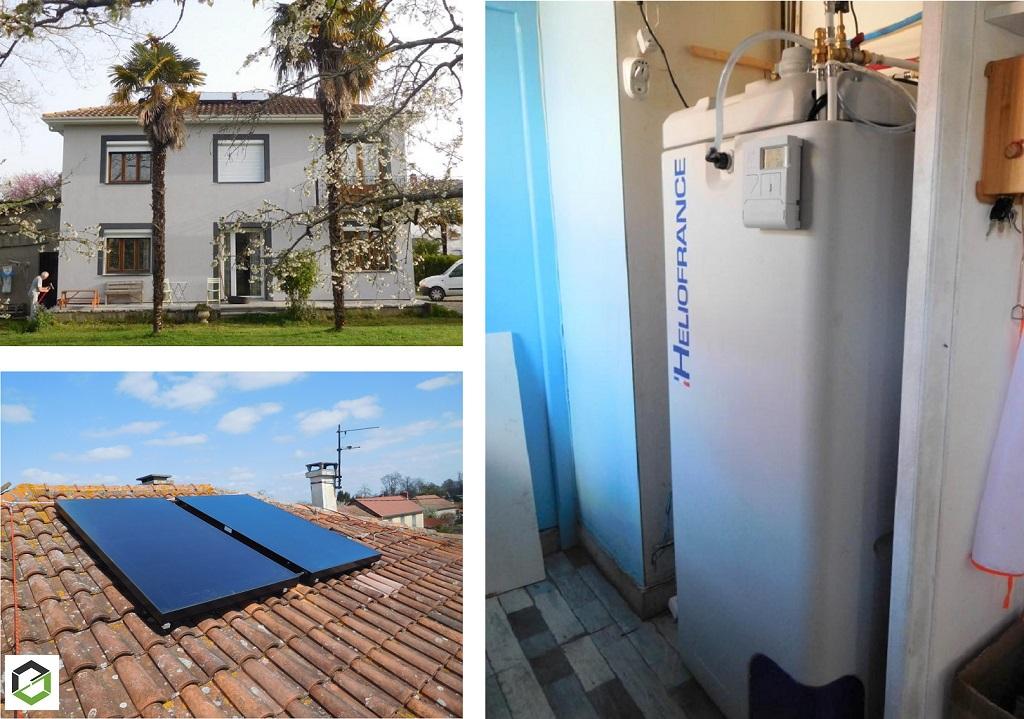 Installation chauffe eau solaire - autovidange