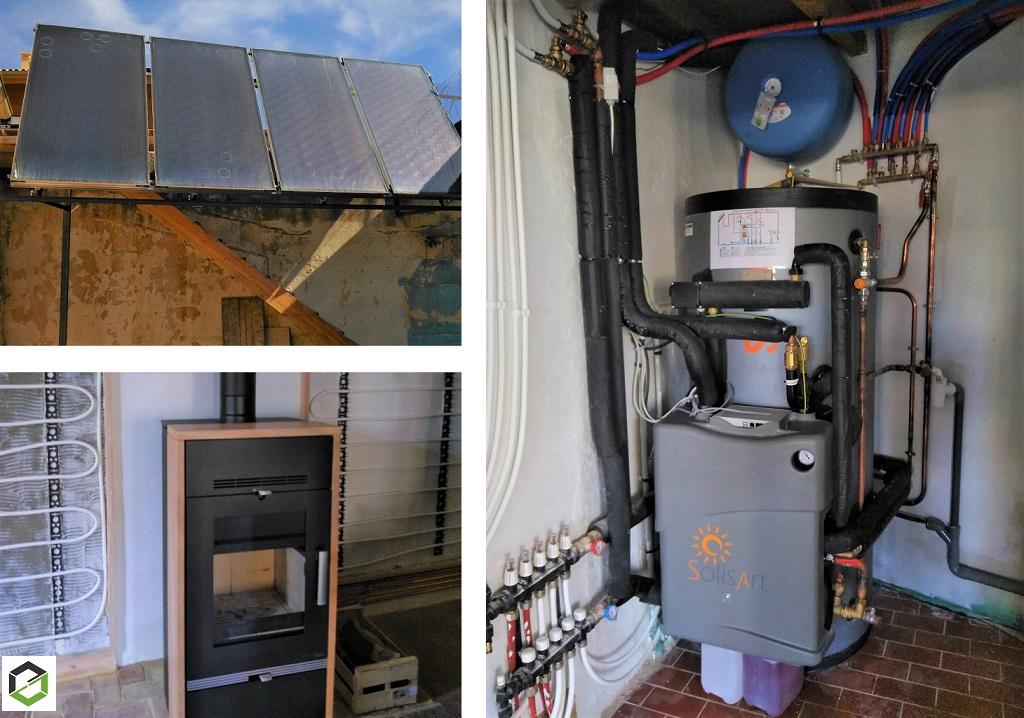 Installation chauffage solaire SolisArt