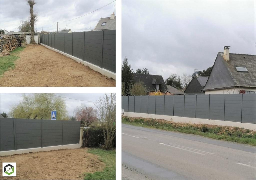Installation d'une clôture aluminium à Crevin