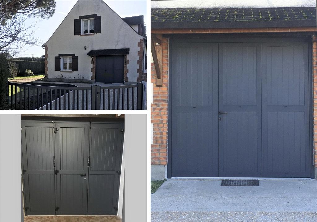 Pose d'une porte de garage aluminium sur mesure-Loir et Cher (41)