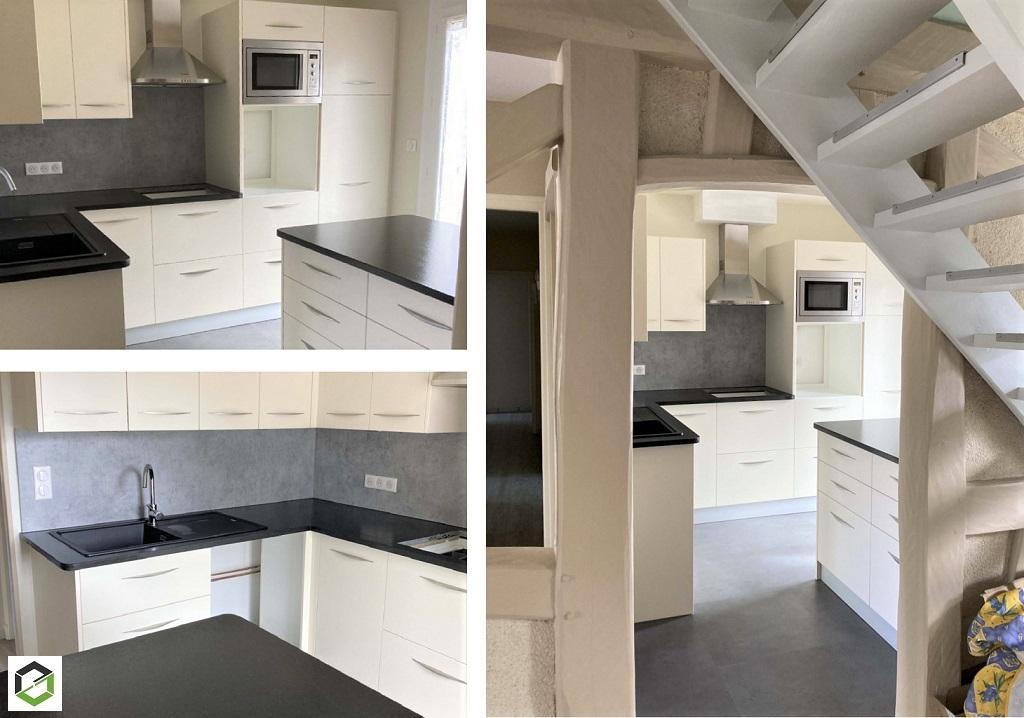 Fabrication et pose d'une cuisine aménagée sur mesure