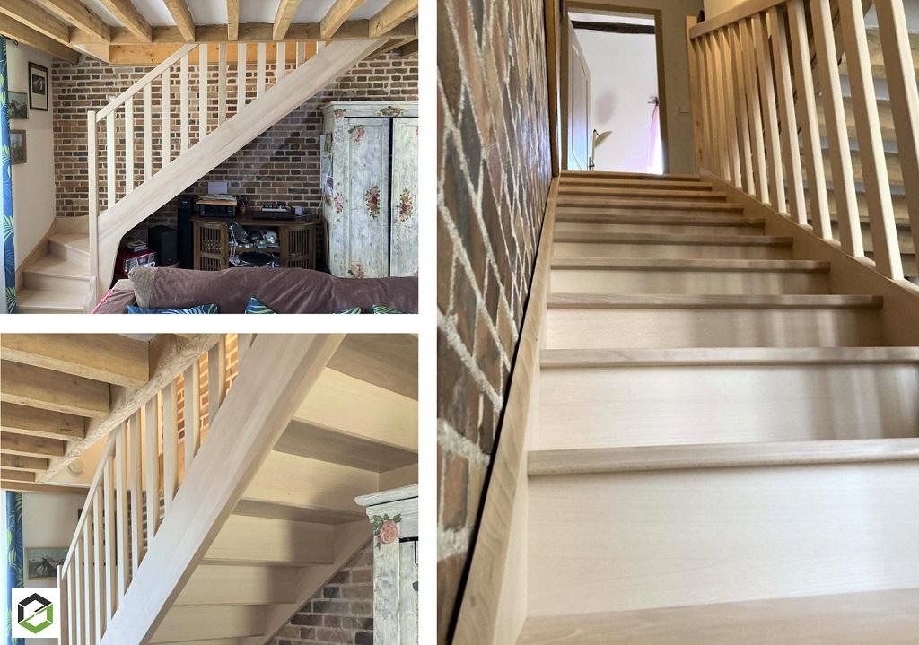 Création escalier en bois massif