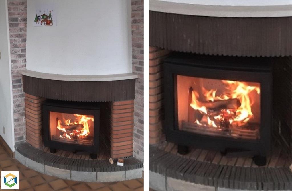Installation d'un poêle à bois Contura i5 FS