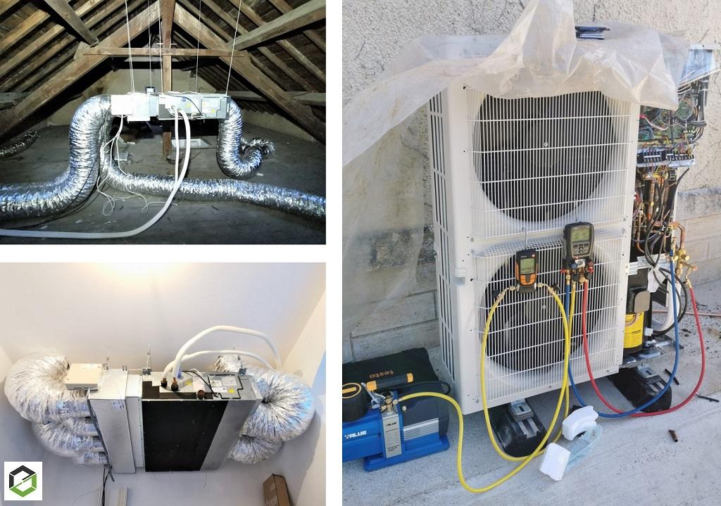 Mise en service d une climatisation MITSUBISHI ÉLECTRIC