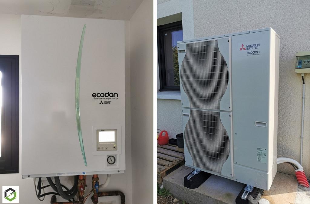 Mise en service d une pompe à chaleur MITSUBISHI ÉLECTRIC