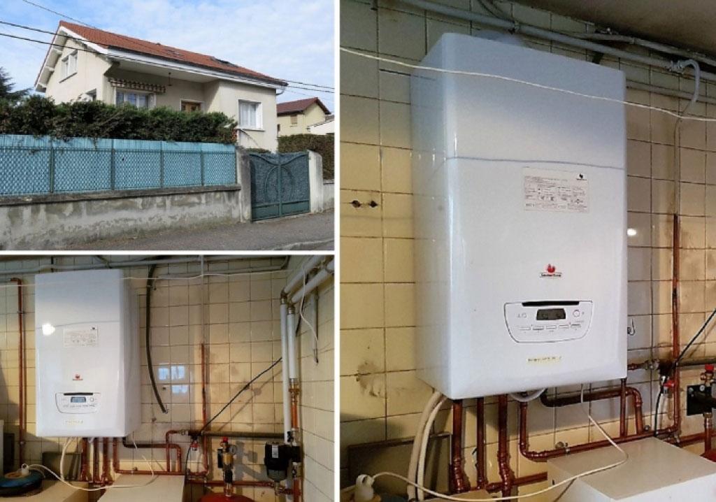 Partenaire GRDF - Installateur Chaudière gaz à condensation Saunier duval thema plus F35 à bourgoin Jallieu