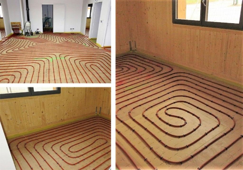Artisan chauffagiste RGE - Pose d'un plancher chauffant hydraulique basse température