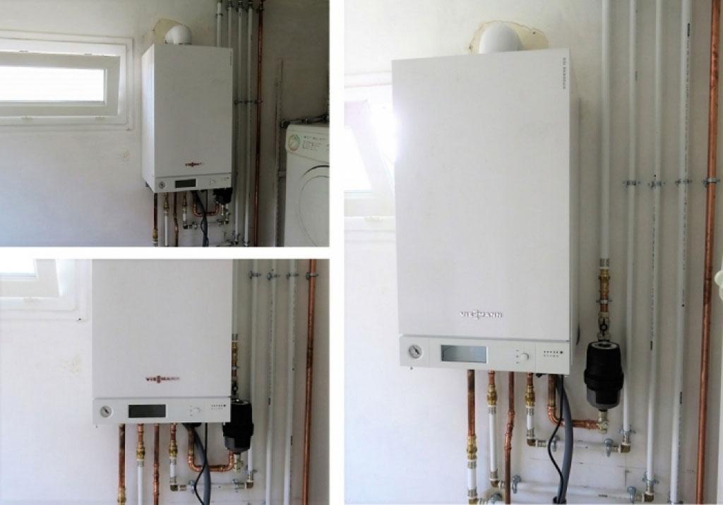 A Saint-Quentin-Fallavier, installation chaudière gaz à condensation Viessmann vitodens100