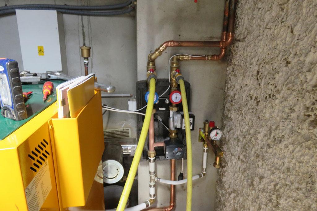 Modification installation chauffage, desembouage circuit radiateur