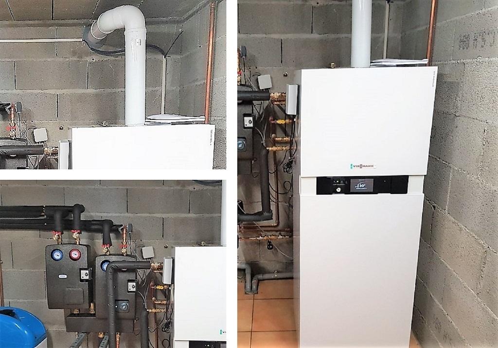 RGE Eco Artisan pose chaudière gaz Viessman à condensation vitodens 222F à Bourgoin-Jallieu