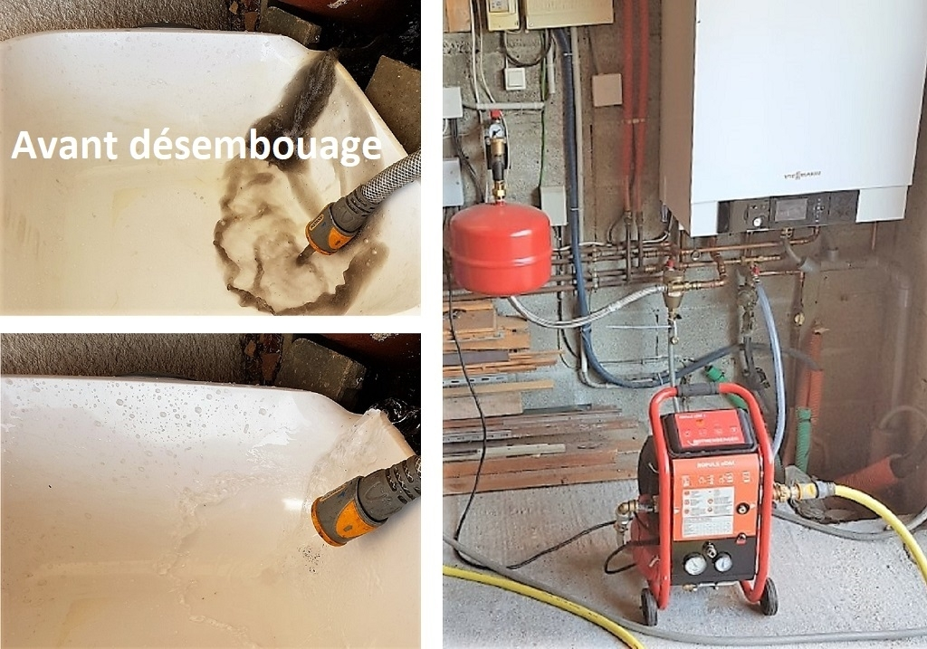 Nettoyage désembouage plancher chauffant circuit radiateur Artisan Chauffagiste