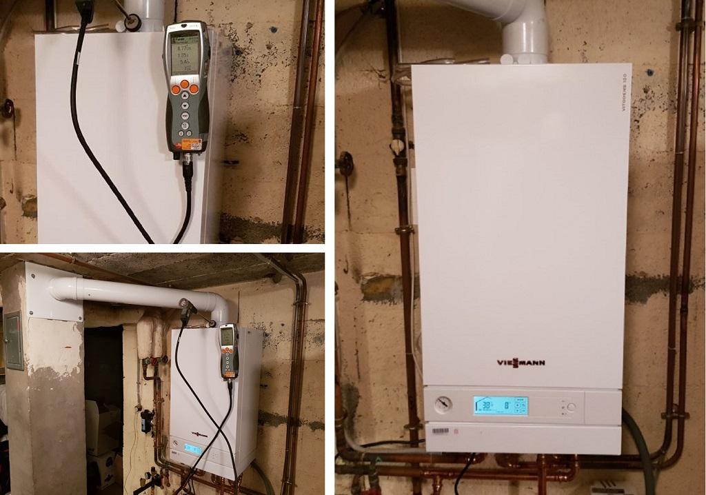 Installation remplacement chaudière gaz par chaudière à condensation Viessmann à Rochetoirin